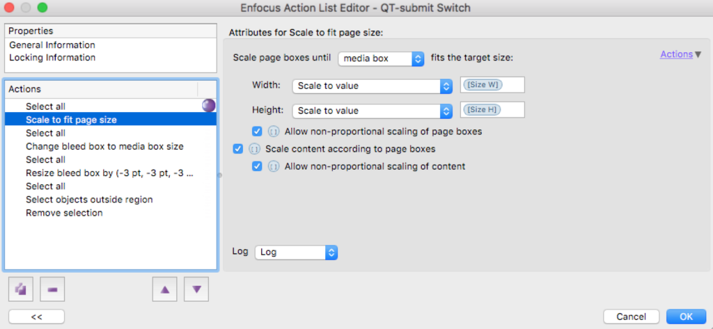 Enfocus Switch EAL with variable